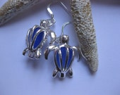 Sea Turtle Seaglass Earrings - Sea Turtle Earrings sea glass beach glass jewelry Beach Glass Jewelry, Handmade Custom Jewelry