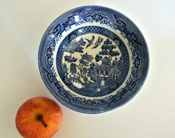"""EIGHT (8)  Blue Willow """"Churchill"""" Berry Bowls-6-inches-Made in England-Listing for ONE (1)Eight (8) Available"""
