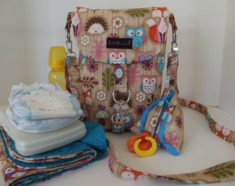 Dollbirdies Original Stroller Diaper Bag with Changing Pad and Pacifier Pod