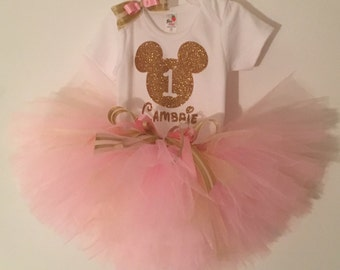 First Birthday Tutu Outfit, Minnie Mouse Birthday, 2nd Birthday, Minnie 1st Birthday, 3rd Birthday, 4th Birthday, 5th Birthday,