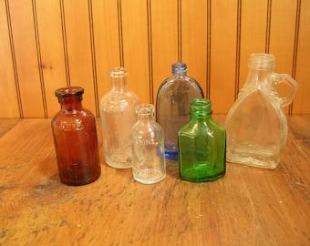 Vintage Bottle Collection, Six Vintage Bottles