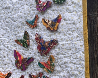 3-D Origami Butterfly Mini Quilt Wall Hanging