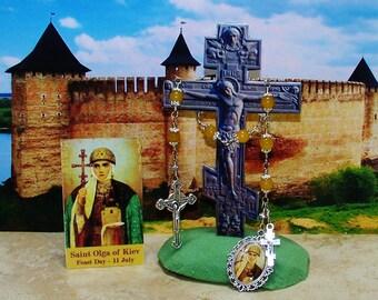 Unbreakable Catholic Chaplet of St. Olga of Kiev - Patron Saint of Widows and Converts