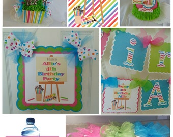 Art Party Ultimate Birthday Sweet Celebration Party Package
