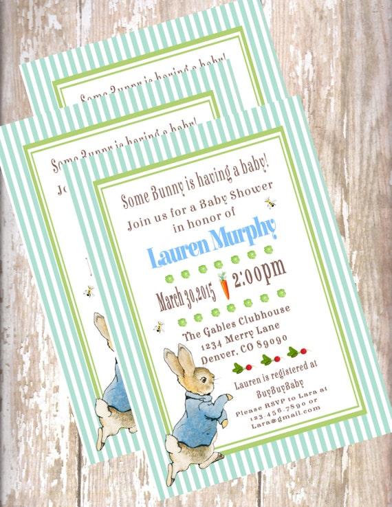 Peter rabbit baby shower invitations new design beatrix potter il570xn filmwisefo
