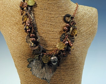 Mixed metal necklace makes a statement!  #106