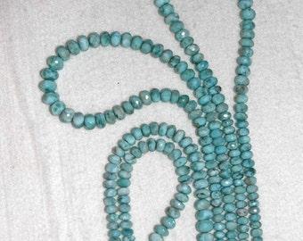Larimar, Larimar Rondelle, 5-9 mm, Faceted Rondelle, Natural Stone, Semi Precious, Gemstone Bead, Graduated, Half Strand, AdrianasBeads