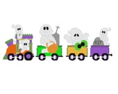 Plastic Canvas All Aboard The Halloween Boo Choo Train Wall Hangings Instant Download
