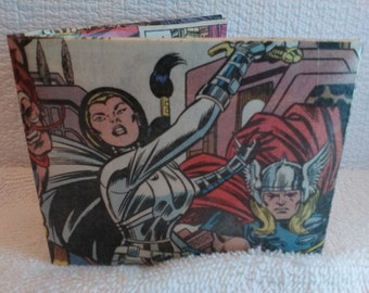 Comic Book Wallet - Sif vs Leir While Thor Looks On