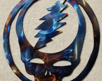 Grateful Dead Steal Your Face Metal Art