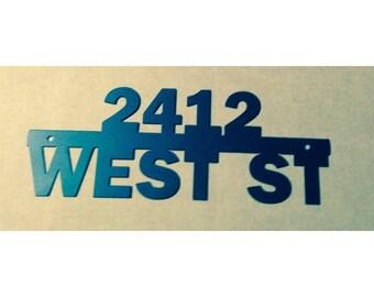 Address Sign, Custom