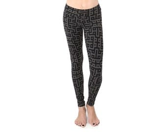 Printed Leggings - Organic Cotton Leggings - Yoga Pants - Organic Yoga Clothes - Athleisure - Activewear - Best Leggings - Festival Fashion