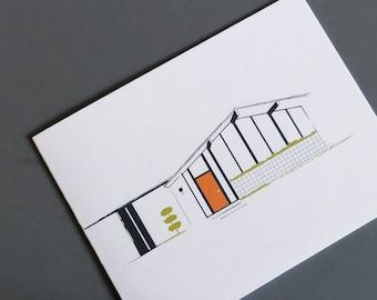 Modern Architecture Cards, Mid Century, Eichler