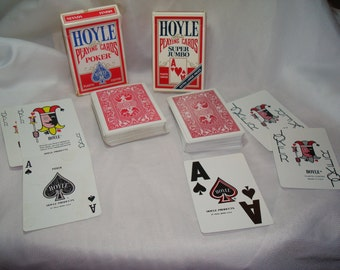 HOYLE Official Playing Cards for Poker and Extra Large Faced Cards.