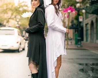 Wedding white Corset laced bamboo jacket hoodie evening elegant