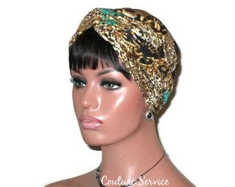 Green Turban, Gold Shimmer, Green Women's Turban, Green Handmade Turban, Green Fashion Turban, Green Twist Turban,  Metallic, Abstract