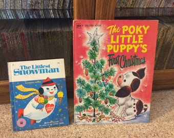 Children's Christmas Books - Puppy and Snowman