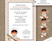San Francisco Giants Baseball Baby shower invitations, free shipping, boy baby shower invites, birthday party invites, dark skin tone option