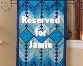 Custom quilted wall hanging for Jamie