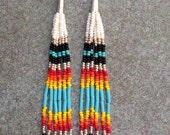 "Native American style 5"" long Beaded Earrings"