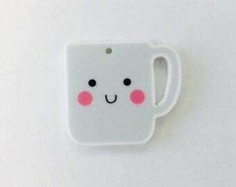 B189 Printed Mug Charm Pendant **STOCK CLEARANCE**