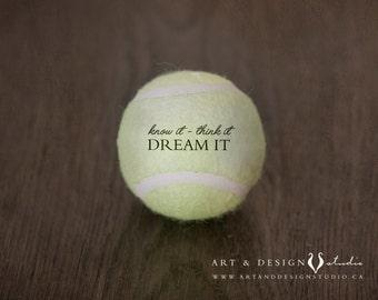 Tennis Ball Decor, Man Cave Art, Boys Room Sports Art, Sports Wall Art, Sports Gifts for Him, Sport Decor, Man Gifts, Athletic Wall Art