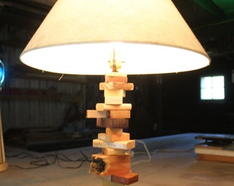 Scrap Wood Table Lamp - free shipping