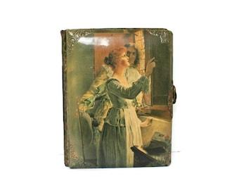 Vintage Photo Album for Cabinet Photography (C. 1800's) Victorian Celluloid Album and Photographs / Antique Family Photos