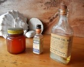 RESERVED for LASTCHANCEANTIQUES Vintage medicines for display Vaseline Hurd's Goose Oil Rub Tincture of Iodine apothecary medical