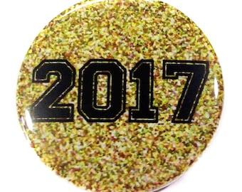 "2017 Graduation, 1"", 1.5"", 2.25"", Gold Specks, Graduation Party Favor, Class of 2017, 2017 Graudatue, 2017, 2017 Graduation, Graduation 2017"