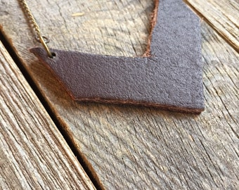 Petit Leather Chevron