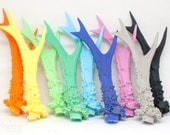 Pair of replica antlers - resin cast roe deer antlers - rainbow colors
