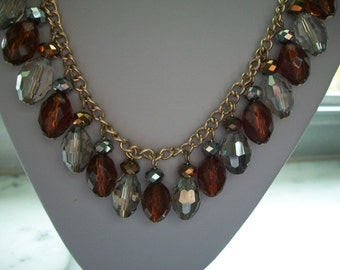 Avon Topaz Color Bead Necklace