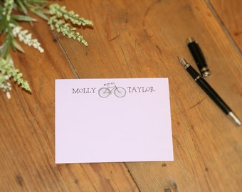 Personalized Vintage Bicycle Flat Card