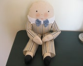 Humpty Dumpty Cloth Doll 20 Inches Tall Handmade