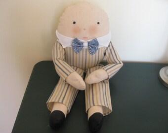 Humpty Dumpty Cloth Doll 20 Inches Tall Handmade