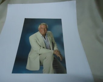 """Vintage 7"""" x 5"""" Signed Color Photo Of George Peppard, collectable, A Team, Banacek"""