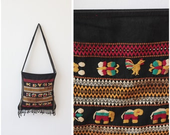 Indian Boho Bag Hippie Bag Indian Embroidered Shoulder Bag Tribal Bag Ethnic Bag Hobo Handbag