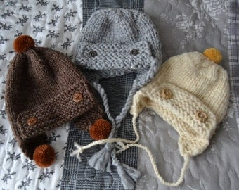 Hand-knitted chunky hunter's hat for Iplehouse SID / SD
