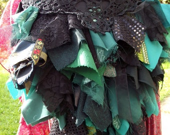 bustle, bustle belt, tribal belly dance, tribal hip scarf, burlesque, circus costume, faery