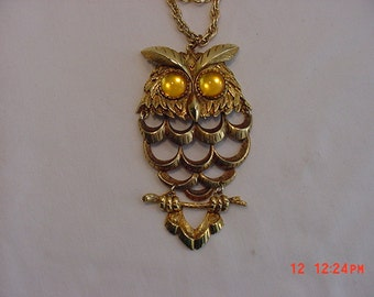 Vintage Owl Necklace  16 - 510