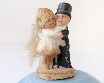 Vintage Kewpie Doll Wedding Cake Topper