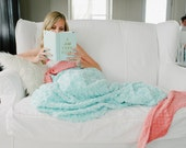 Adult Mermaid Tail Blanket- Teen Mermaid Blanket - Child Mermai Tail- Mermaid Bedding- Adult Mermaid- Adult bedding- Ships out in 1-3 Days