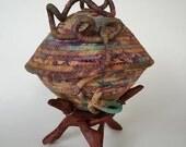 Dreamkeeper, Sculptural Basket, Fabric Basket