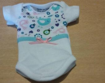 onesie for approx. 9-10 inch ooak or reborn baby