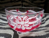 Valentine's Day Candy Dish Heart Shaped Hand Painted Pink Candy Bowl