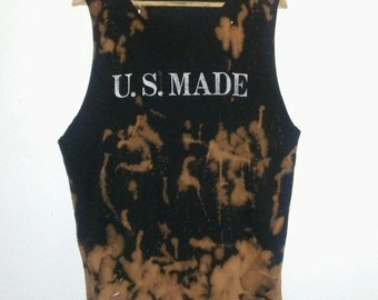 U. S. Made T Shirt / Muscle Tee / Graphic Tee / Sleeveless / Indie / Classic Rock N Roll / Grunge / Street Style / Unisex / Women / Men