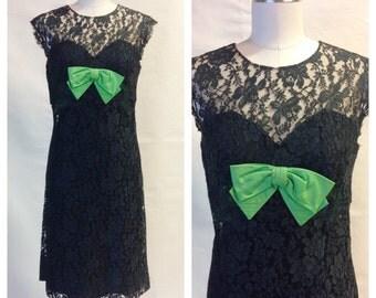 1960s Dress / Peggy Hunt Dress / 60s Lace Dress