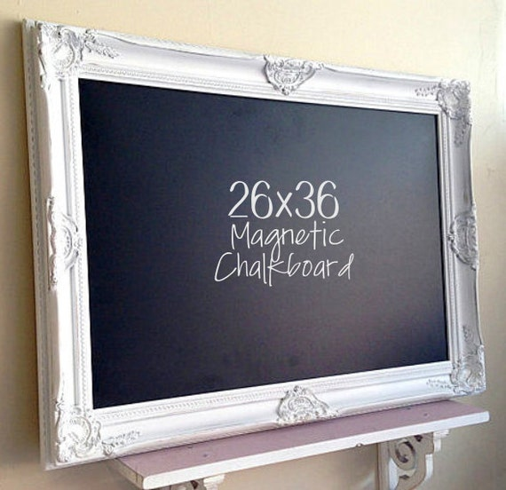 WHITE Framed Chalkboard Narrow Kitchen Chalkboard French