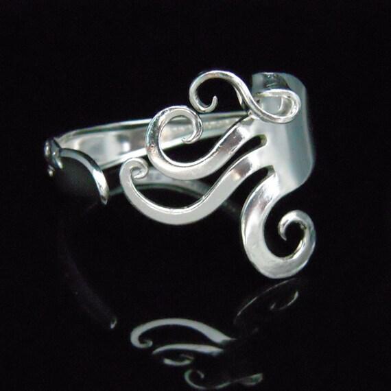 Antique Silver Jewelry Fork Bracelet in Fancy Design